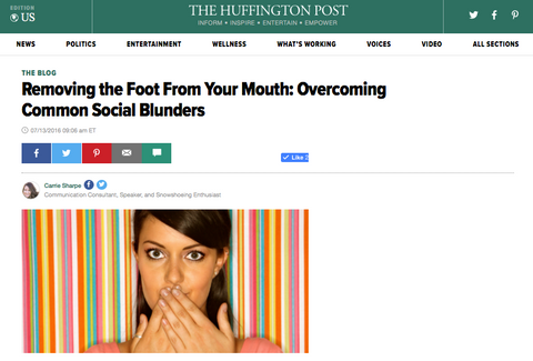 Removing the Foot From Your Mouth: Overcoming Common Social Blunders