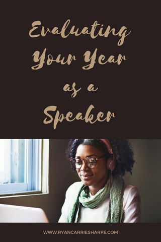 Evaluating Your Year as a Speaker- He says, She says