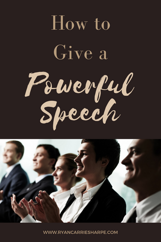 How to Give a Powerful Speech | Carrie Sharpe | He says, She says