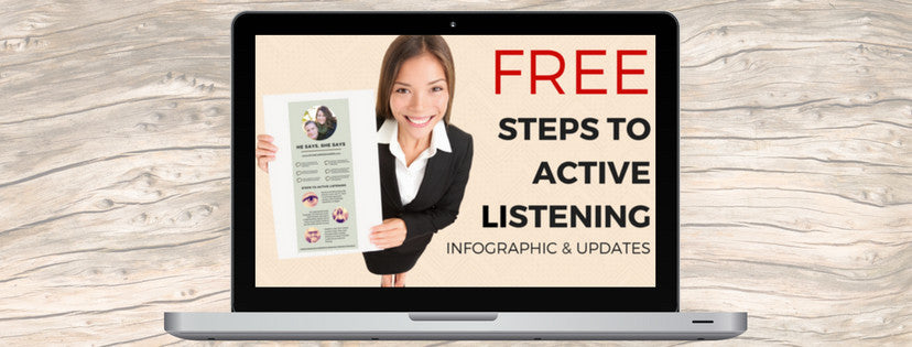 Free Steps to Active Listening infographic and updates
