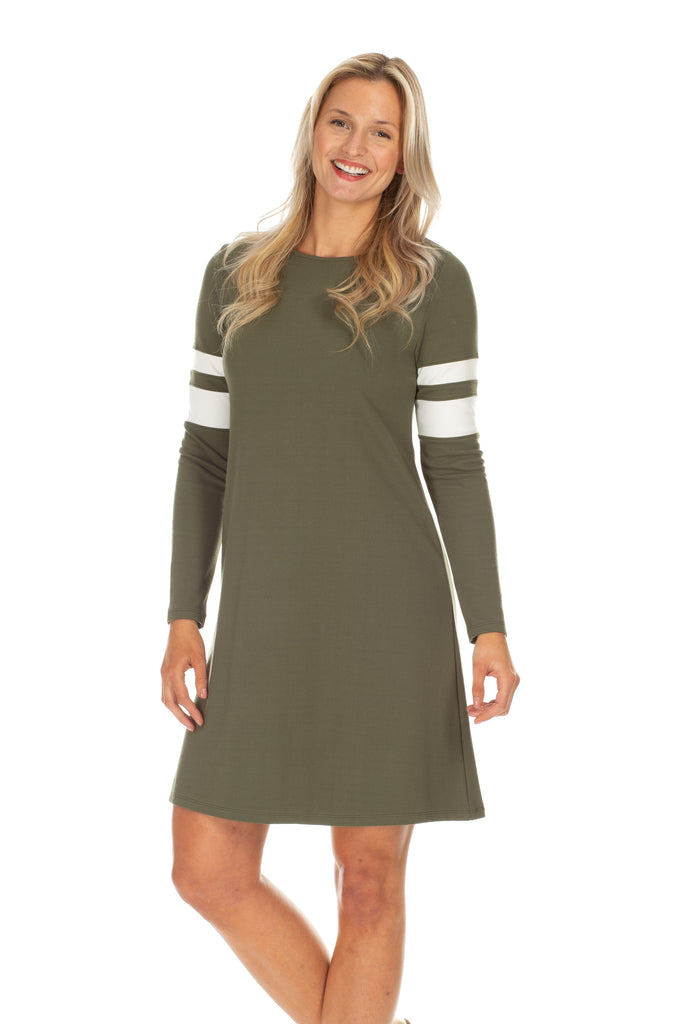Market Dress in Olive
