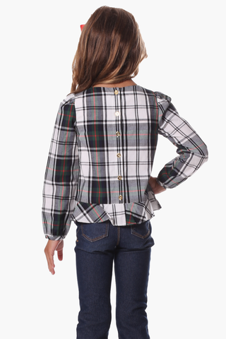 Girls Aspen Top in Plaid