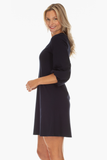 Bradley Dress in Navy