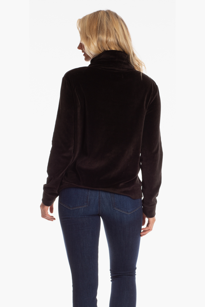 Brandy Pullover in Black Velvet