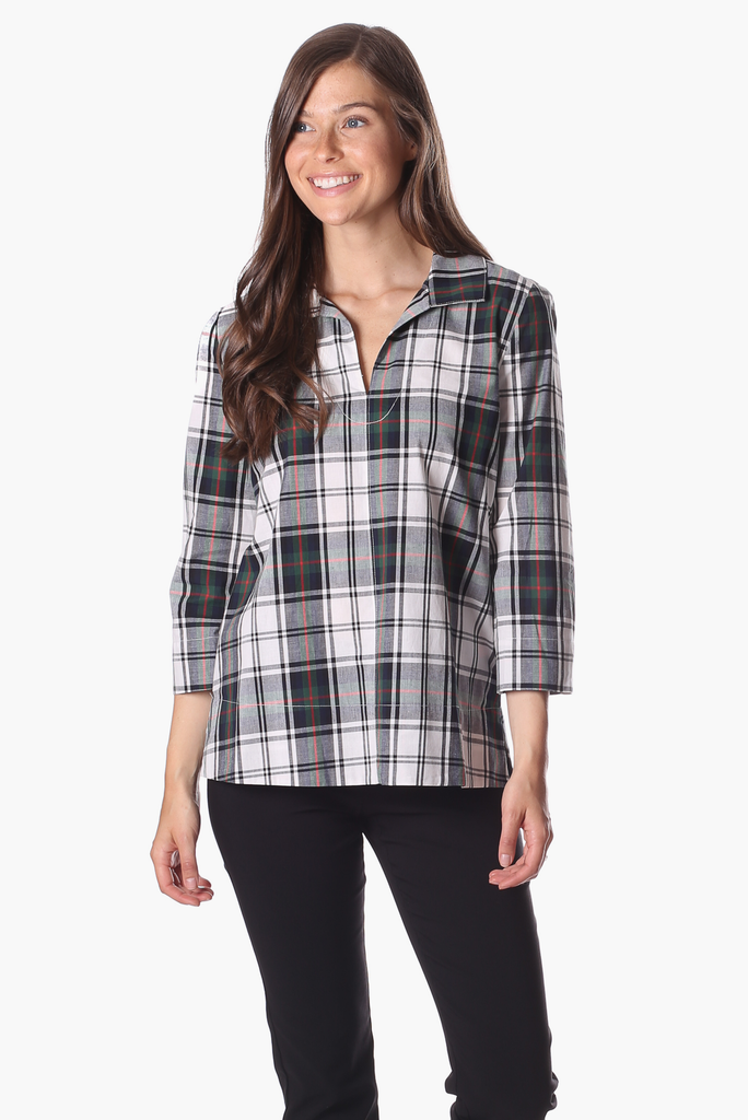 Cadence Top in Plaid