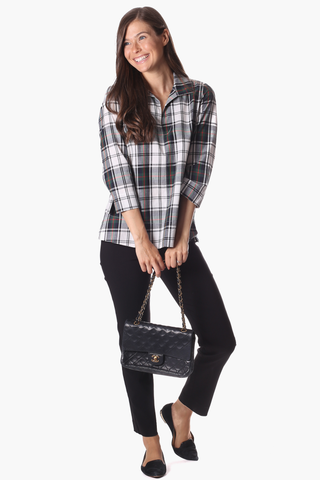 Savannah Tunic in Forest Gingham