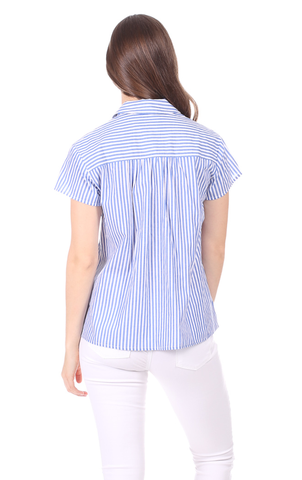 Darcy Top in Royal Blue Stripe