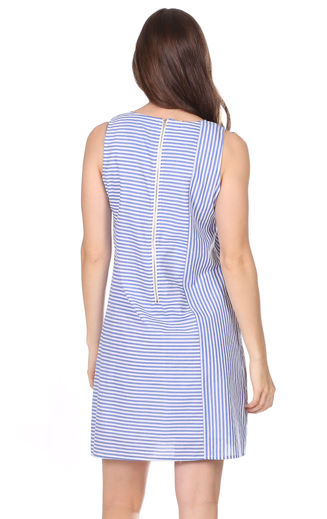Diana Dress in Royal Blue Stripe