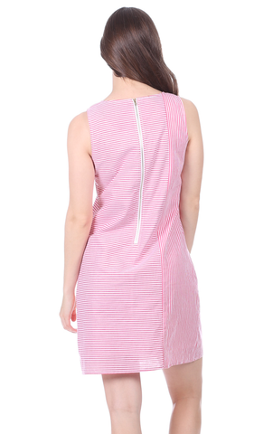 Diana Dress in Red Stripe