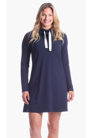 Girls Abbey Dress in Herringbone