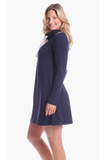 Girls Emmerson Dress in Navy