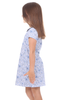 Girls Anna Dress in Blooming Blue
