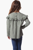Girls Bridgett Top in Forest Gingham