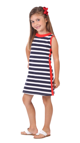 Kaylee Coverup in Red Stripe