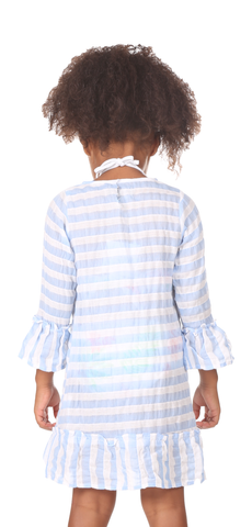 Girls Colony Coverup in Blue & White Stripe