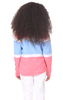 Girls Cynthia Colorblock Pullover in Strawberry, Hydrangea & White