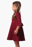 Girls Daisy Dress in Red Star
