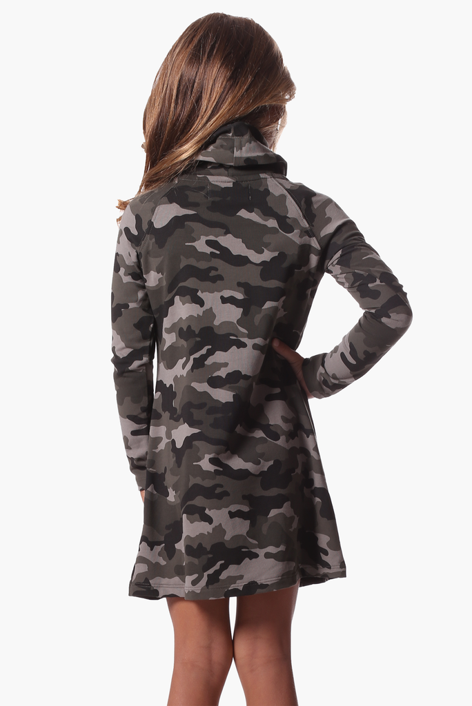 Girls Emmerson Dress in Camo