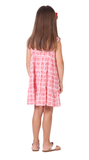 Girls Lucy Dress in Red Geo