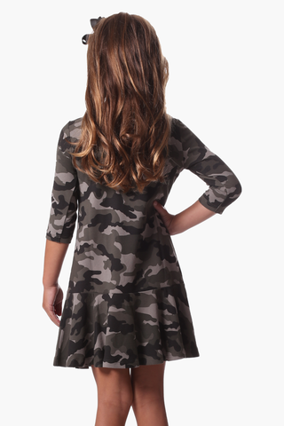 Girls Melissa Dress in Camo