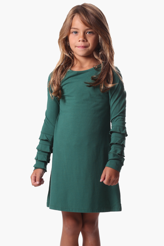 Girls Radcliff Dress in Evergreen