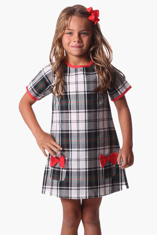 Girls Gracie Dress in Plaid