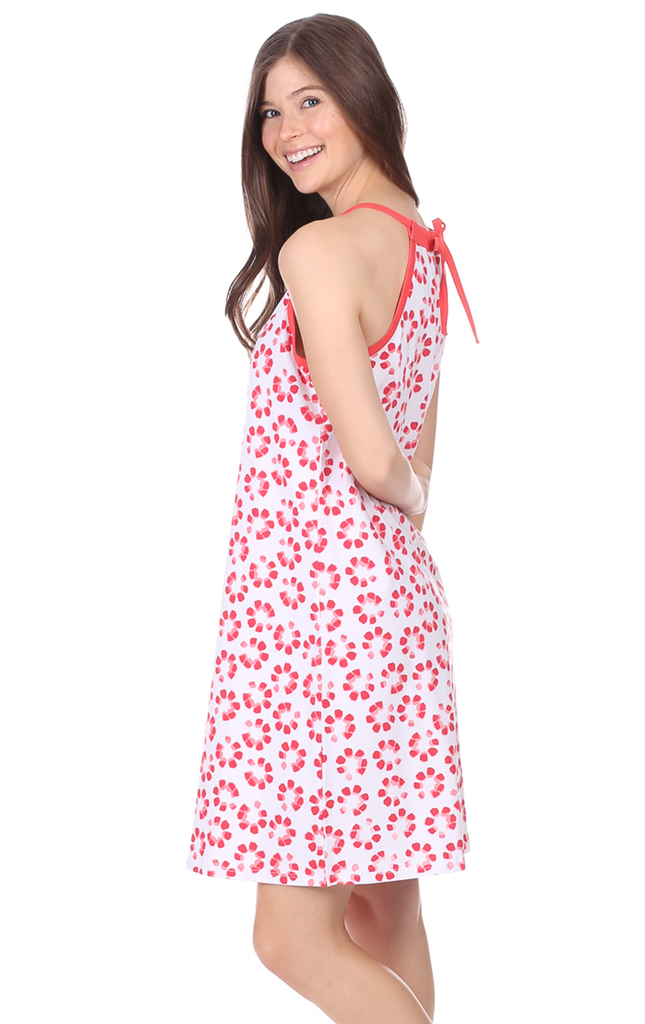 Hayes Halter Dress in Firework Print