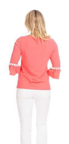 Preston Top in Coral