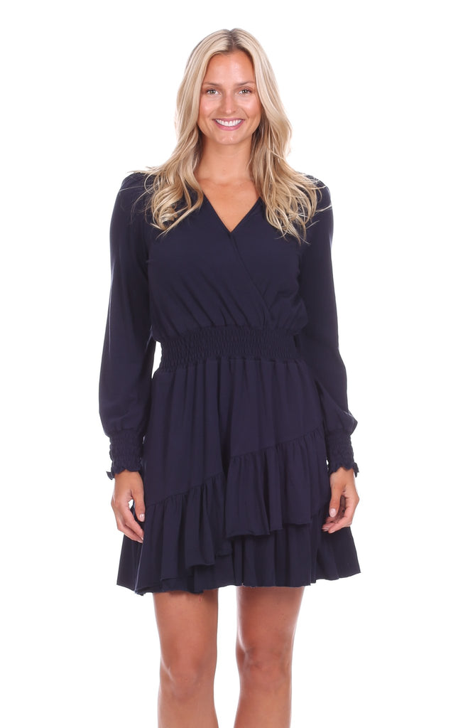 Vivianne Dress in Navy