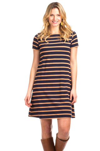 Girls Ruthbury Dress in Navy