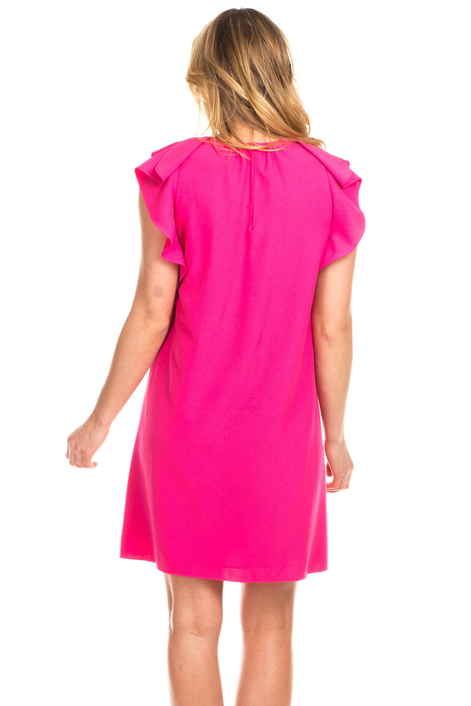 Raliegh Ruffle Dress in Pink