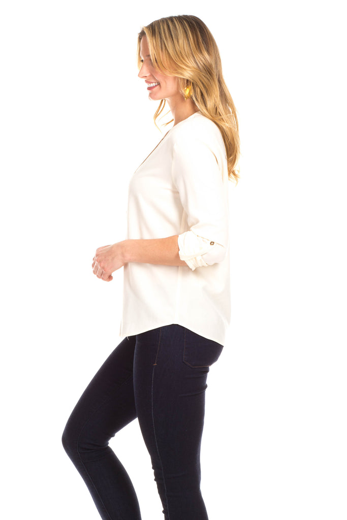 Mayberry Top in Ivory