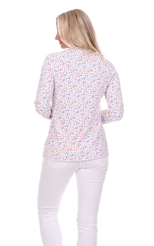 Finley Funnel Neck in Splatter Print