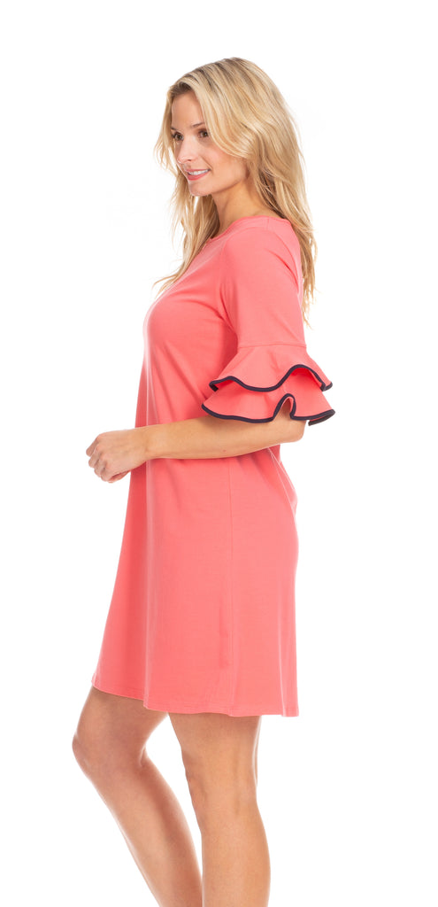 Opal Dress in Coral