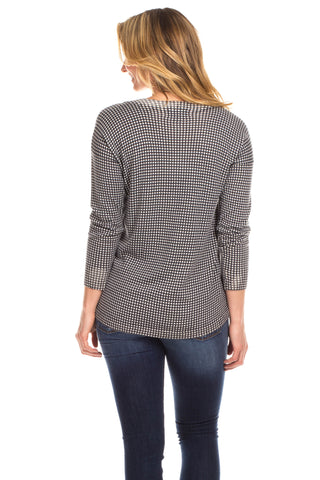 Hampton Sweater in Check