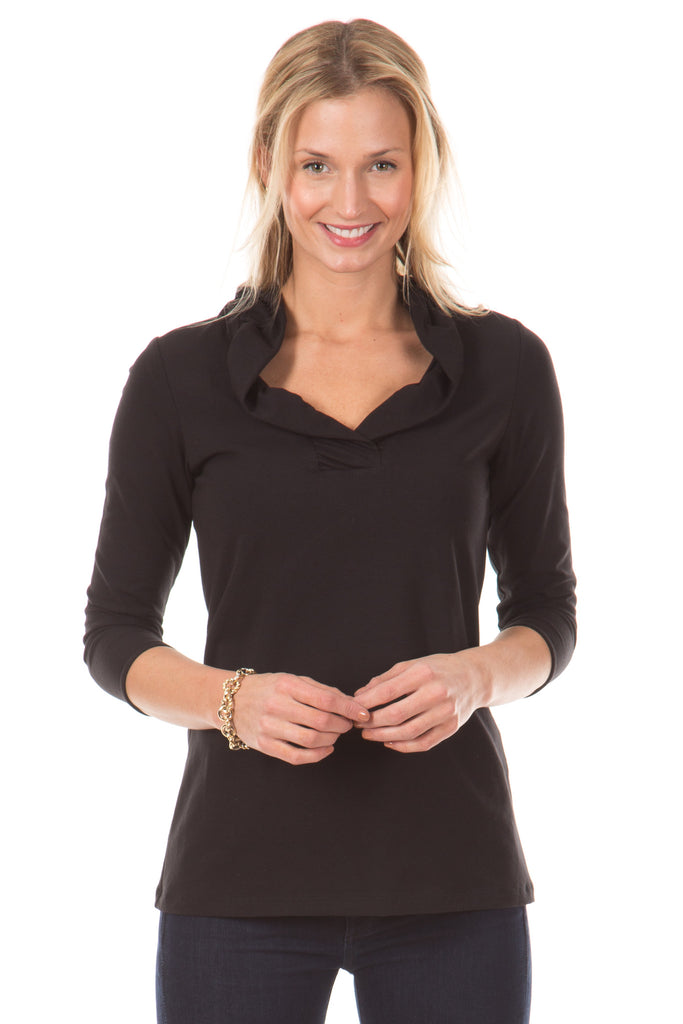 Rockford Ruffle Tunic in Black