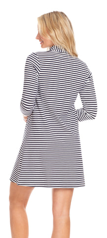 Kingsley Dress in Navy & White Stripe