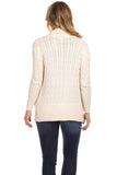 Campbell Cashmere Blend Cardigan in Ivory