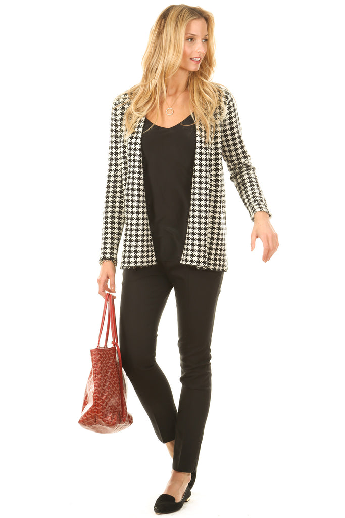 Ada Sweater Jacket in Houndstooth