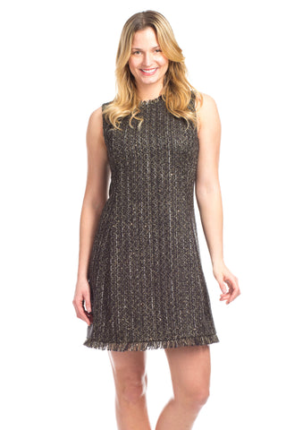 Hayden Dress in Tweed