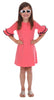 Girls Opal Dress in Coral