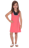 Girls Eve Dress in Coral