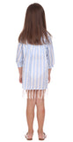 Girls Gasparilla Coverup in Blue Stripe