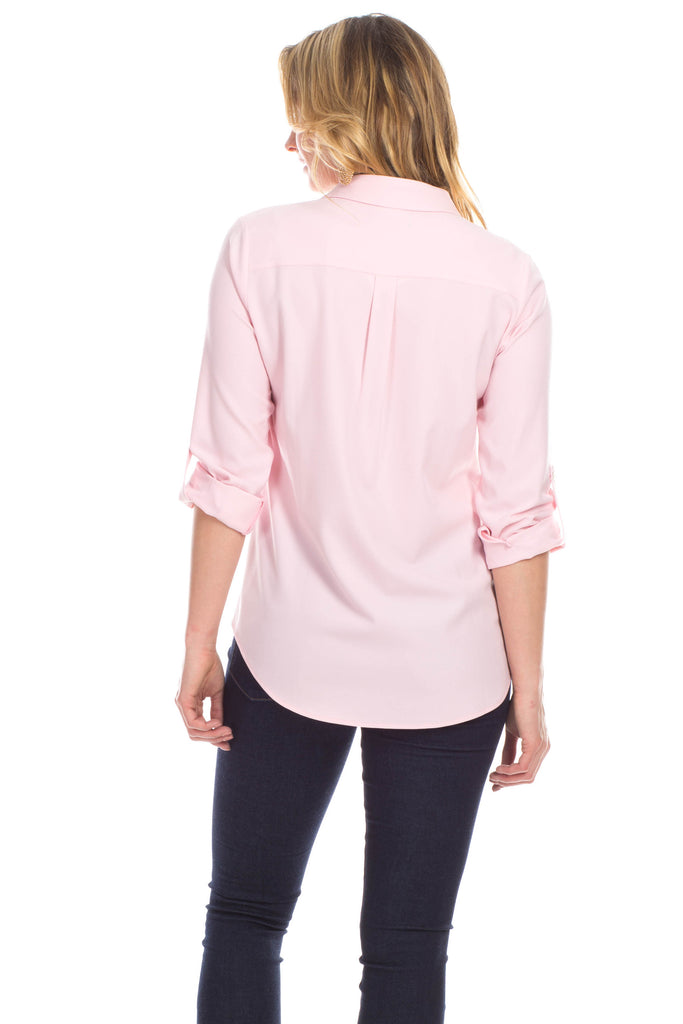 Silky Pointe Tunic in Blush
