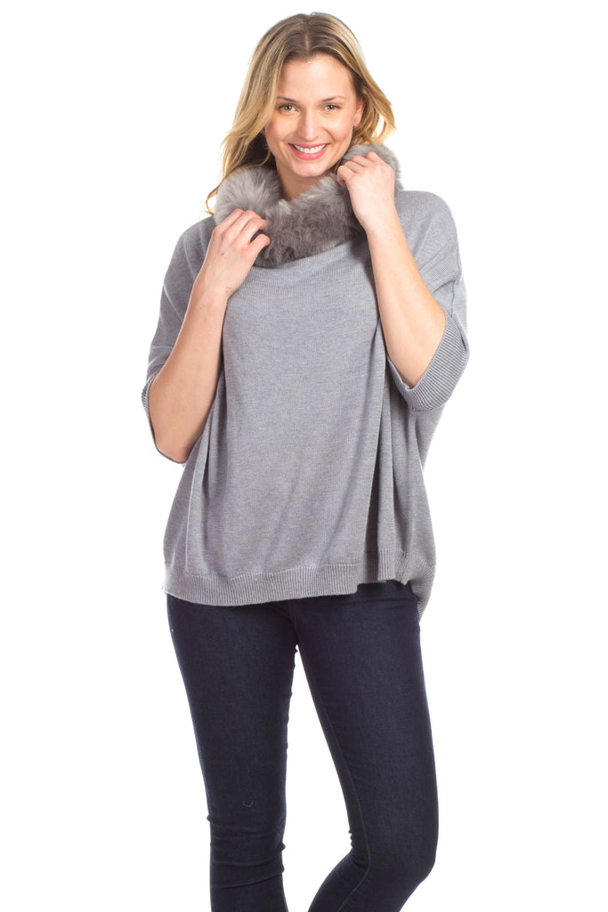 Payton Poncho in Grey
