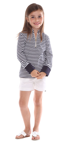 Onekama Top in Navy Gingham