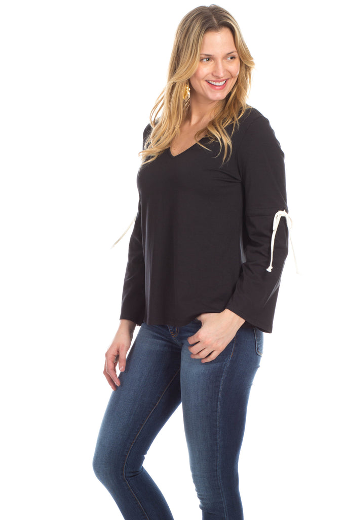 Townsend Tie Top in Black