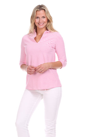 Onekama Top in Pink Gingham