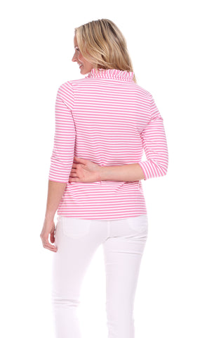 Libby Tunic in Pink & White Stripe