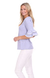 Zeeland Top in Lavender Stripe